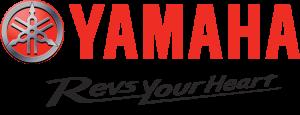 "logotipo de Yamaha de color rojo con slogan ""Revs your heart"" para la web de Nautika Kantauri, Concesionario oficial Yamaha en Guipúzcoa"